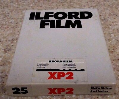 ILFORD XP2 4x5 Professional 400 Film Unopened Box of 25 Exp.