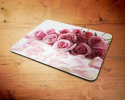 Pink Roses Bunch Rubber Mouse Mat PC Mouse Pad D2