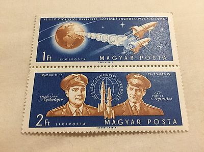 Hungary Space Stamps 1Ft 2Ft New Unused