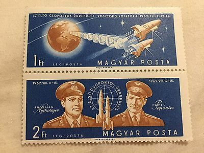 Hungary Space Stamps 1Ft 2Ft New Unused (2)