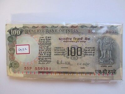India Republic Hundred (10) Rupees 100 Bank Note Sequential Malhotra