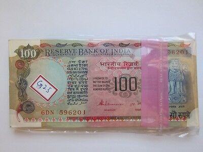 India Republic Hundred (100) Rupees 100 Bank Note Sequential Sitaraman