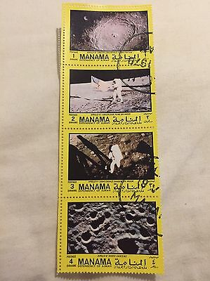 Manama Dependency Of Ajman Stamps Apollo 8, Apollo 12, Apollo 11, Apollo 8