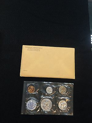 1962 U.s Mint 5 Coin Silver Proof Set With Original Envelope