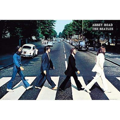 THE BEATLES JOHN LENNON PAUL McCARTNEY ABBEY ROAD POSTER 36x24 NEW FREE SHIP