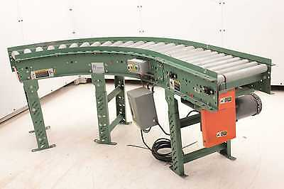 """Roach End Drive Powered Right Angle Roller Conveyor 14"""" Nominal Wide x 96"""" Long"""