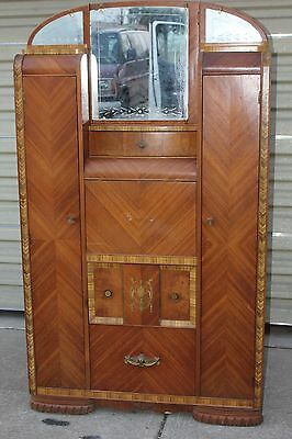 Art Deco Waterfall wardrobe/chiffarobe/secretary/cedar