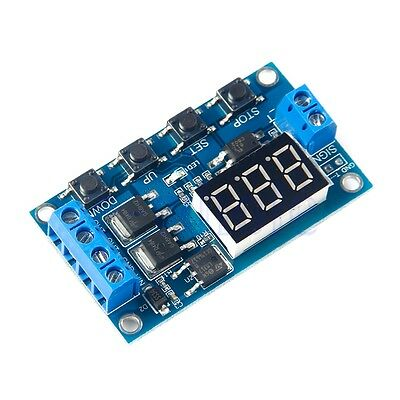 12V-24V Pulse Signal Cycle Delay Timer Switch FET MOS Control 0.1Sec~999Min WS