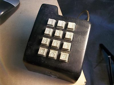 D82 Vintage Western Electric? Bell System Adjunct Push Button Telephone Key Pad