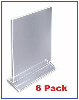 ChefLand Acrylic Sign Holder/Table Card Display/Plastic Upr...New, Free Shipping