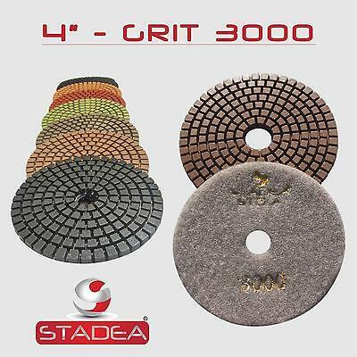 "STADEA 4"" Diamond Polishing Pad Grit 3000 for Granite Concrete Wet Grinder Floor"
