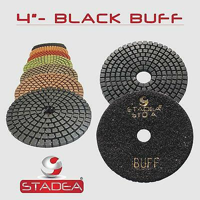 "STADEA 4"" Diamond Polishing Pad Grit BUFF Black for Granite Concrete Wet Grinder"