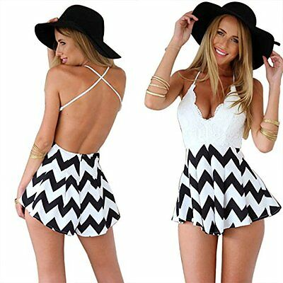 Women Ladies V Neck Playsuit Bodycon Party Clubwear Jumpsuit&Romper Trousers New