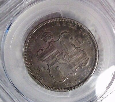 1883 Kingdom of Hawaii Silver Half Dollar PCGS AU Details Cleaned lightly toned