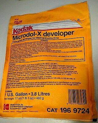 Lot of 10 Kodak Microdol-X Developer 482 Gram 17oz.CAT 196 9724.Make 1 US Gallon