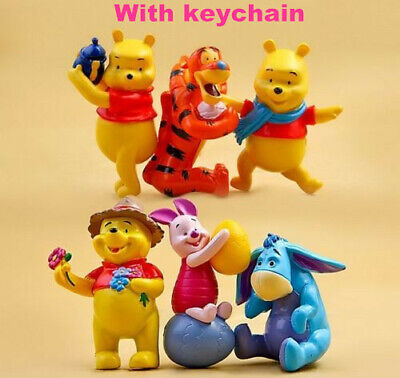Winnie the Pooh Action Figure Kids Figurines Set Cake Topper Decor Toys Playset
