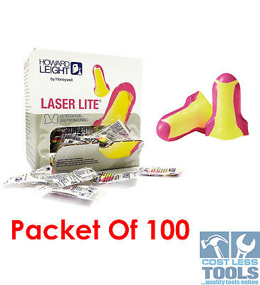 Howard Leight Laser Lite Uncorded Ear Plugs 100 Pack  LL-11