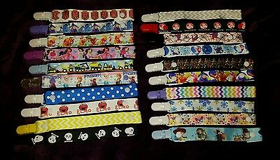 1x Dummy clips to fit avent tommee tippee  disney  boy girl baby