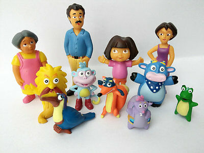 12pcs Set Dora the Explorer Gift PVC Action Figures Cake Toppers Kids Toys Doll