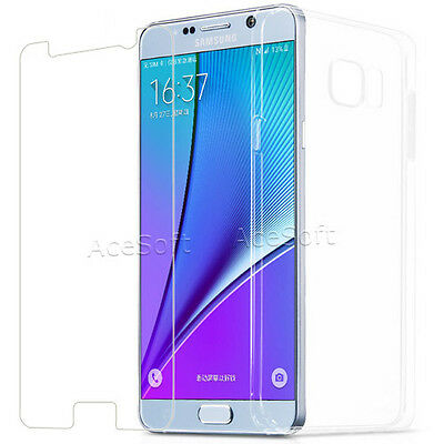 Clear Temperedglass Screen Protector TPU Case for Samsung Galaxy Note 5 SM-N920T