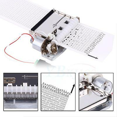 30 Note Auto Electric Music Box Movement+Puncher+ 3Pcs Strips for DIY Your Song