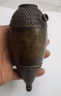 Rare Antique Vintage Beautiful Shape Brass Hand Holding HOOKAH BASE
