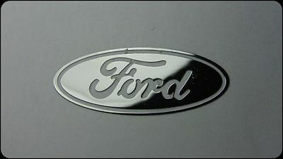 FORD  metalissed chrome efect sticker logo badge 30 mm x 11 mm