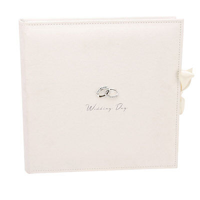 Lovely Ivory Suede Wedding Photo Album Large 25 Page Collage Stick On Pictures