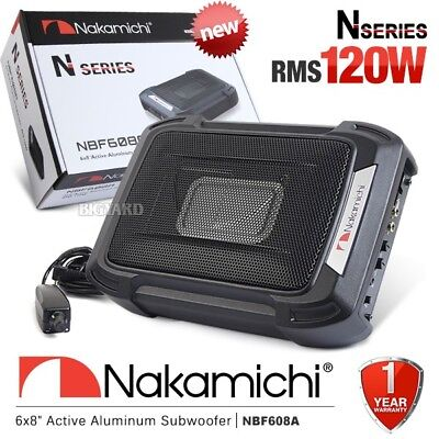 "NAKAMICHI NBF608A 6X8"" Car Underseat Active Subwoofer 120W w/ Built In Amplifier"