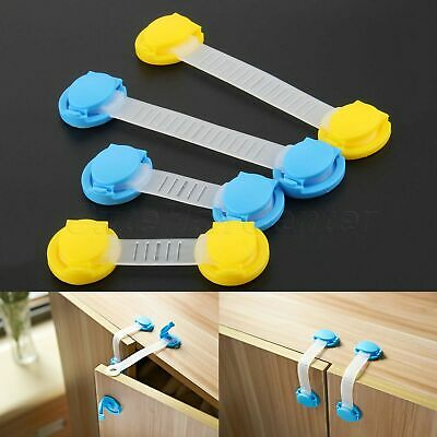 5/10 Baby Cabinet Locks Straps Child Safety Lock Drawer Protect Proof 10/15.5cm