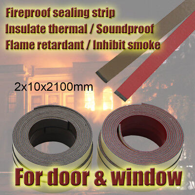 10mm Self Adhesive Intumescent Fireproof Sealing Strip Door Frame Seal Fire Safe
