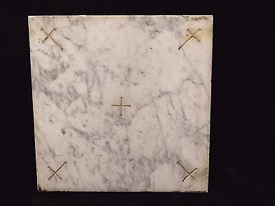 Catholic Church Mable Altar Stone Reliquary with Holy Relic of Saint Cross #1
