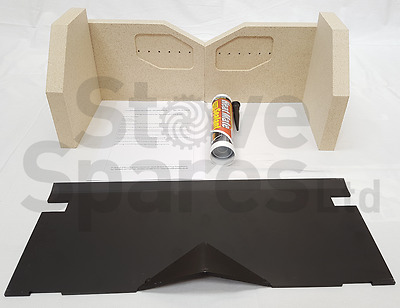 Charnwood Island 2 (Mk2) Fire Brick & Baffle Set - 011/by48S / 010/by47