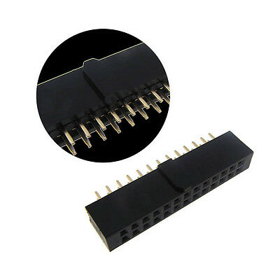 "2x13 Position Female Socket Header Connector 0.1"" 2.54mm Polarizing Key - QTY(5)"