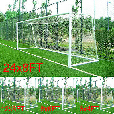 Multi Size Football Goal Post Nets Pump Ball Whistle In & Outdoor Soccer Play