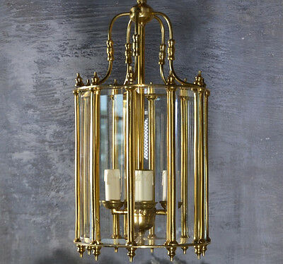 Ceiling Light Chandelier Brass Glass Decorative Art Deco Style Lantern