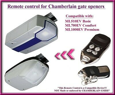 Compatible remote control for Chamberlain ML510EV Basic, ML700EV Comfort openers