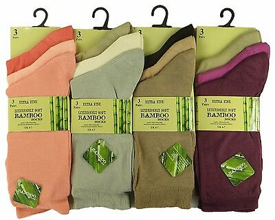 Summer Colours Multipack Ladies Luxury Bamboo Super Soft Extra Fine Socks-4-7
