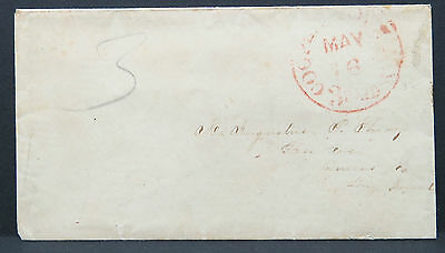 Stampless Cover Cooperstown 1855 Paid 3 Vorphila Brief Vorphilatelie (Lot 9432