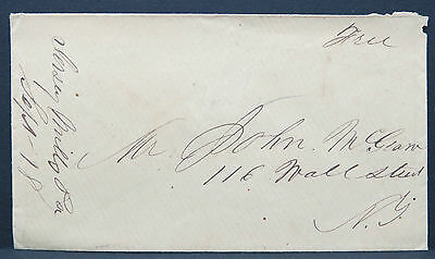 Stampless Cover Jersey Mills Free Hand Cancel Vorphila Brief (Lot 9336