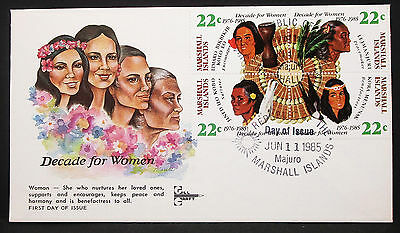 Decade for Women Marshall Islands Illustrated Cover FDC Ersttagsbrief (H-10443