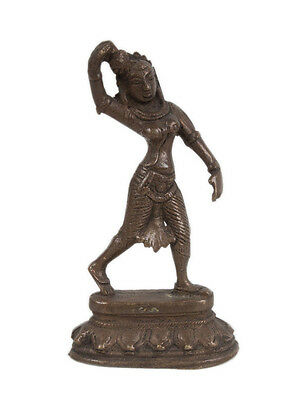 Südindien 20. Jh. Skulptur - A South Indian 'Chola Style' Bronze Female Figure