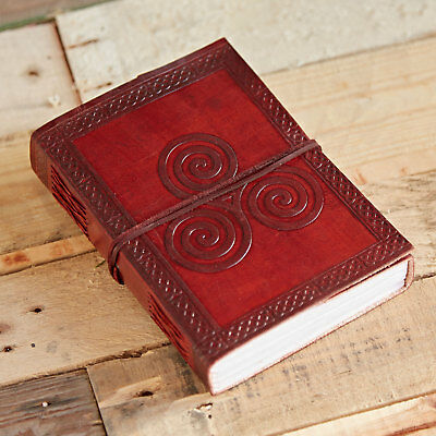 Fair Trade Handmade Celtic Triskelion Leather Journal 2nd Quality