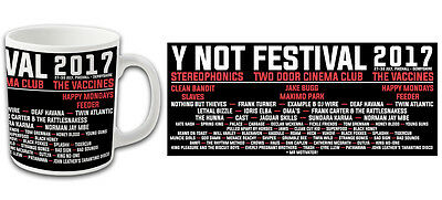 Y Not Festival 2017 Line Up Souvenir Mug Stereophonics Vaccines Happy Mondays