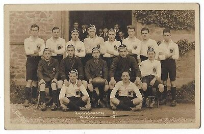 LLANDOVERY College Rugby Team 1922-23, RP Postcard by SW Fox, Unused