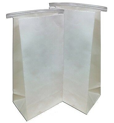 """100 Dental Lab Delivery Bags With Tin Tie Closure 11"""" x 5.5"""""""