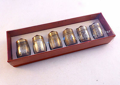 Box Set of 6 Sterling Silver Salt Shakers By Viking