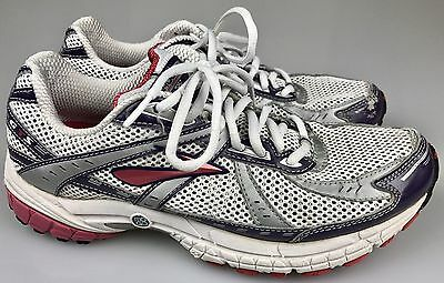 5c4c3fd8a98 Brooks Adrenaline GTS Go2 X Edition Running Shoes White Silver Pink Women s  10 B