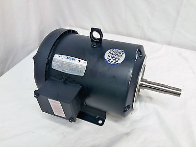 NEW! LEESON 131580.00 Electric Motor 5HP 3500RPM 208-230V/460V HX184JM 3-PHASE
