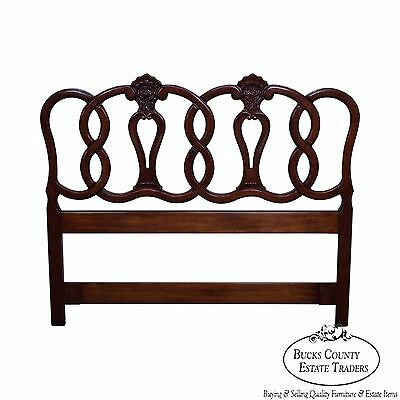 Quality French Louis XV Style Fruitwood Queen Size Headboard
